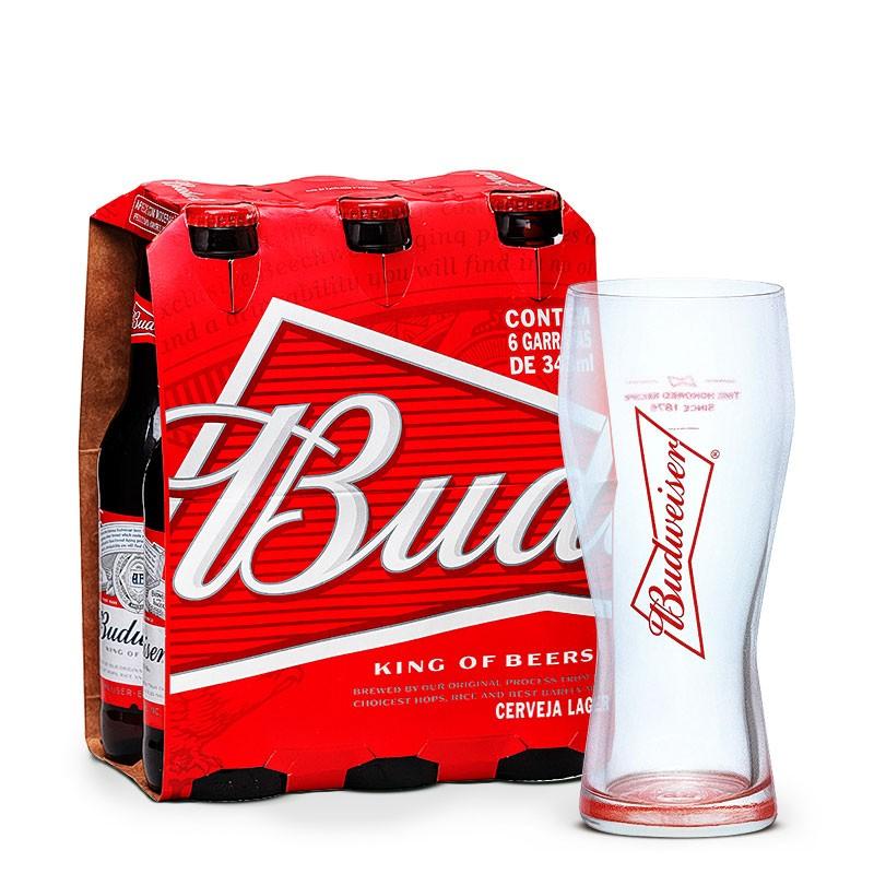 Copo Budweiser 400ml, Budweiser 343ml b10e28d33b