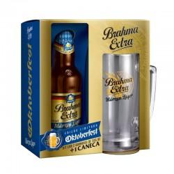 Kit Brahma Extra Marzen Oktoberfest: 2 Cervejas 355ml + 1 Caneca