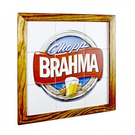 Quadro Chopp Brahma 9 Azulejo