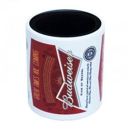 Porta Lata em Alumínio Budweiser