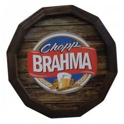 Quadro Brahma Barril em Madeira