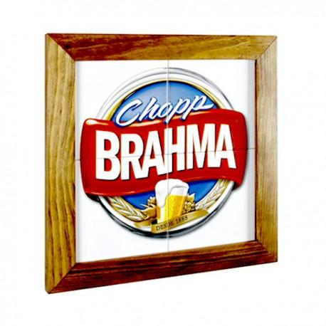 Quadro Chopp Brahma 4 Azulejo